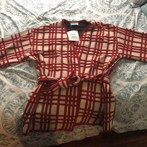 NEW Zara Red and Cream Kimono Sweater!